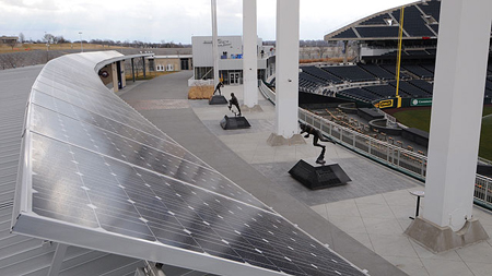 Kaufman Field solar panels