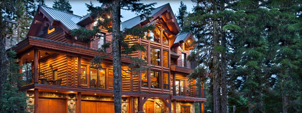 LEED certifed log home, Mt. Hood