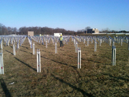 New Jersey American Water--solar field construction