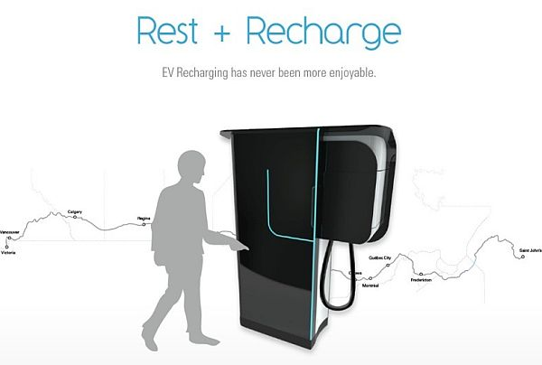 Rest + Recharge EV Station