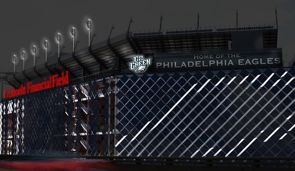 NRG Philadelphia Eagles stadium green energy