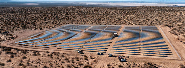 Edwards Air Force Base Borrego solar installation
