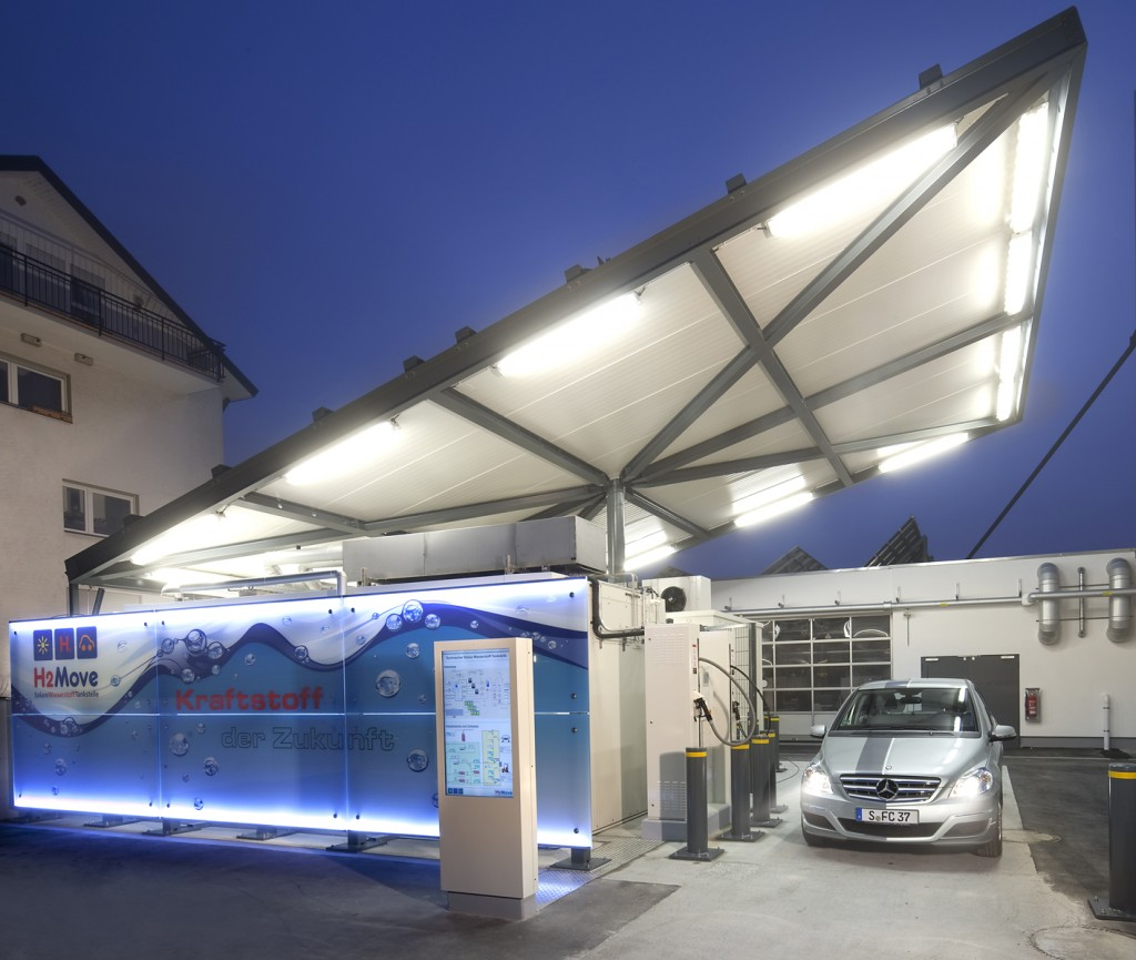fraunofer solar hydrogen fueling station