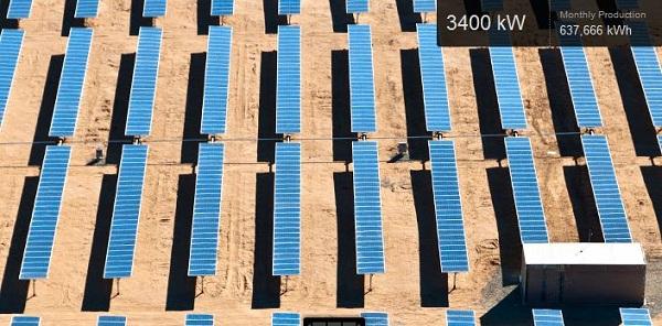 Edwards Air Force base solar