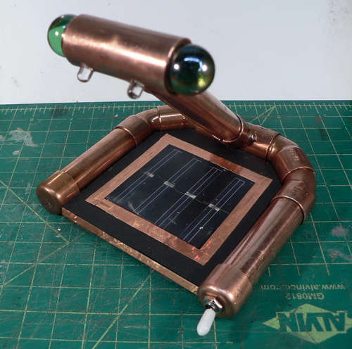 Miss Betsy's Rechargable Steampunk Solar Nightlight