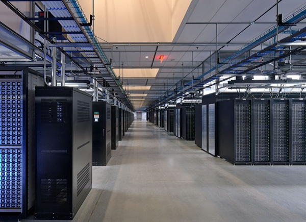 Facebook data center server room, greepeace