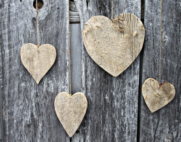 Recycled Barn Wood Hearts