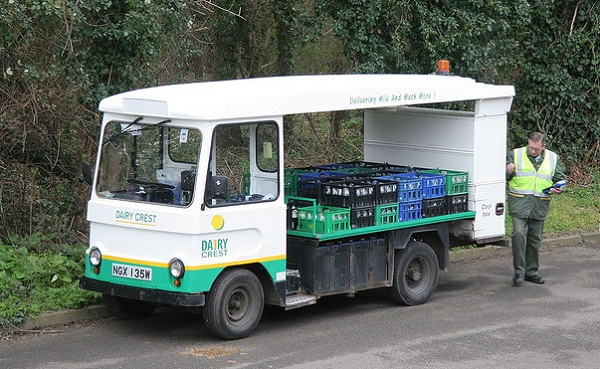 electric milk truck