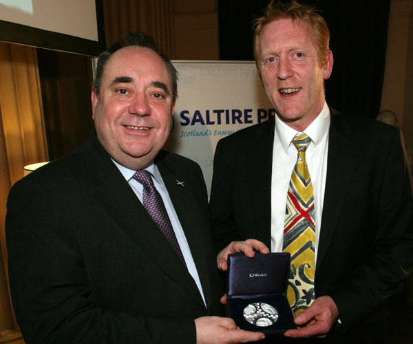 Dr Richard Yemm (right) with Scottish First Minister Alex Sammond
