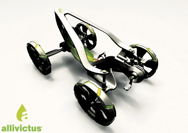 Electric Car Concept Gets By On Good Old Pedal
