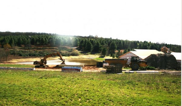 Floyd EcoVillage under construction