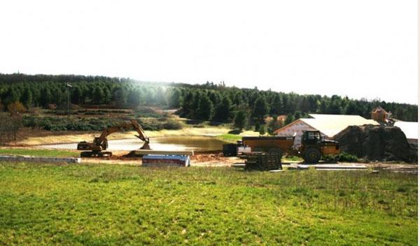 Floyd EcoVillage under construction