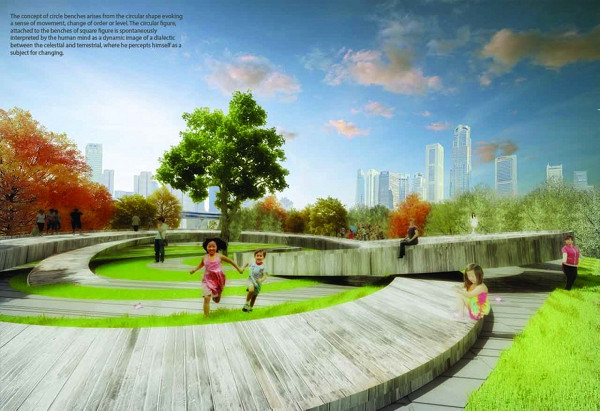 Re-Thinking Shanghai_Circle Benches