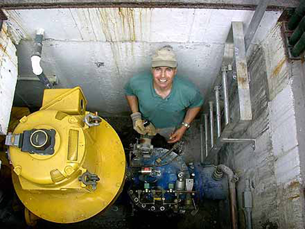 Aquarian Turbine installation
