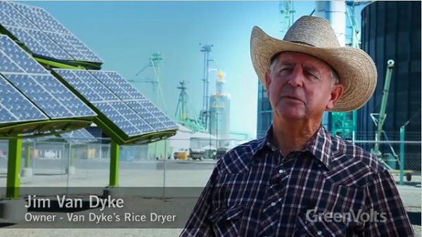 GreenVolts, CPV, Jim Van Dyke, rice dryer