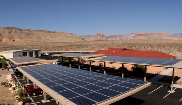 BLM Red Rock Fire Station solar power