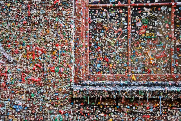 Chewing Gum on a Wall