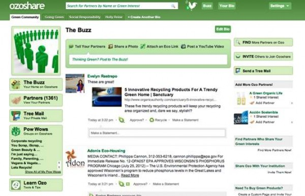 Ozoshare Green Social Networking