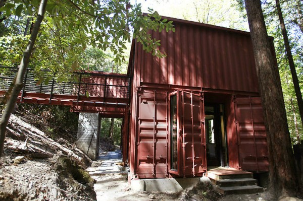 The Shipping Container Home At Home In The Woods Earthtechling