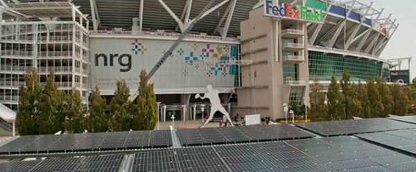 Solar array at FedEx Field