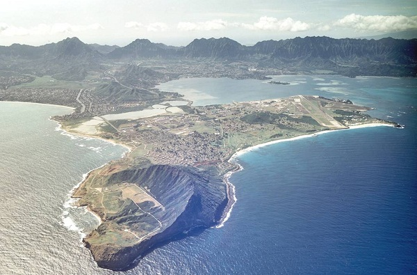 Kaneohe Bay test site (image via University of Hawaii)