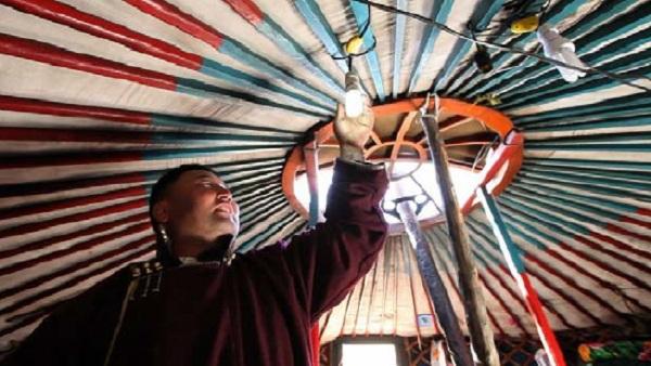 mongolian portable solar