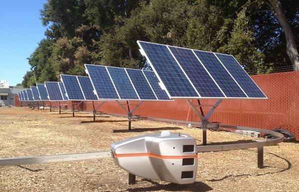 QBotix QTS robot solar tracking system