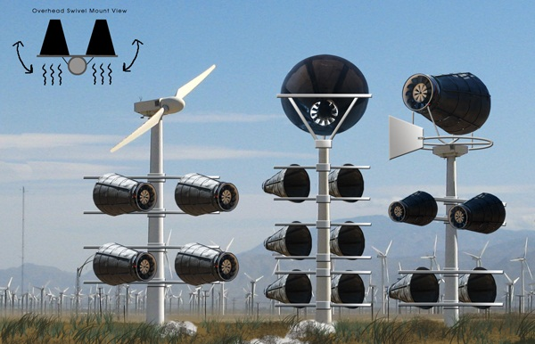 Catching Wind Power wind turbine