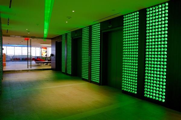 Heineken elevator lobby