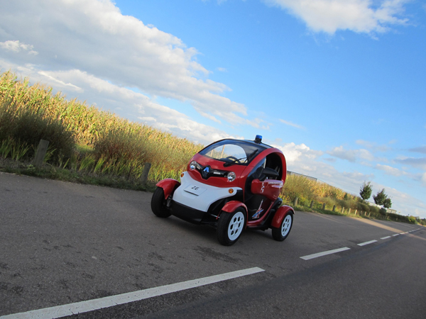Renault Twizy fire fighting EV