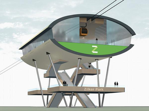 Wire aerial tram, Austin