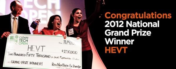 Cleantech Open, winners, 2012, HEVT