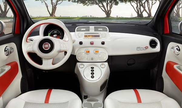 Fiat 500e electric car