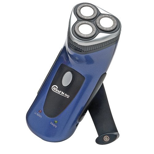 Hand Crank Shaver, holiday gifts, tech, human-powered