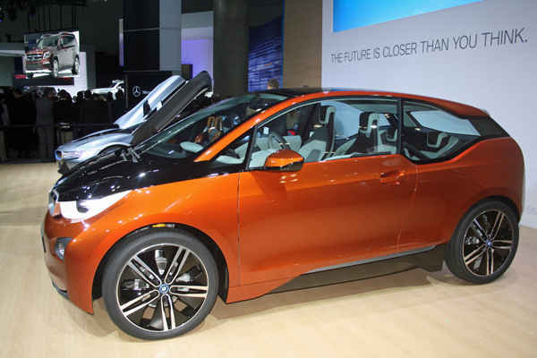 BMW i3 at 2012 LA Auto Show (image copyright EarthTechling)