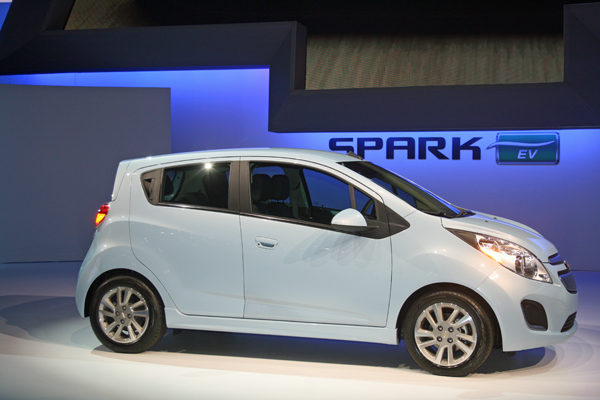 Spark EV at 2012 LA Auto Show (image copyright EarthTechling)