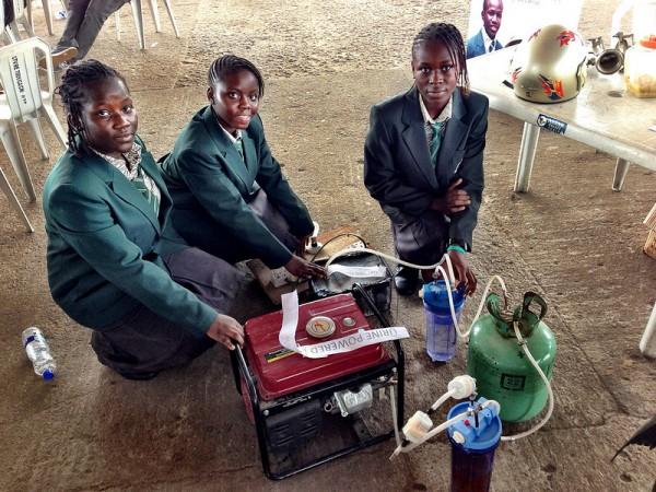 Maker Faire Africa Pee Powered Generator