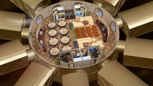 Artist's rendering of a planned underground community shelter, via The Vivos Group.