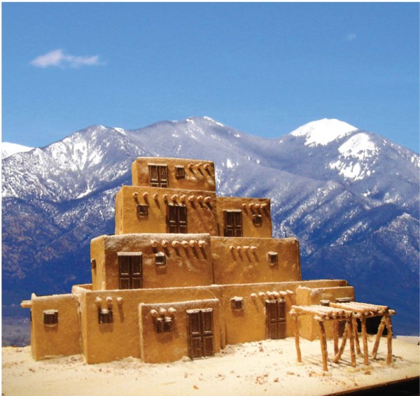 """Gingerbread Taos Pueblo,"" by J. Matthew Thomas and Richard Spera. Image via Architizer."