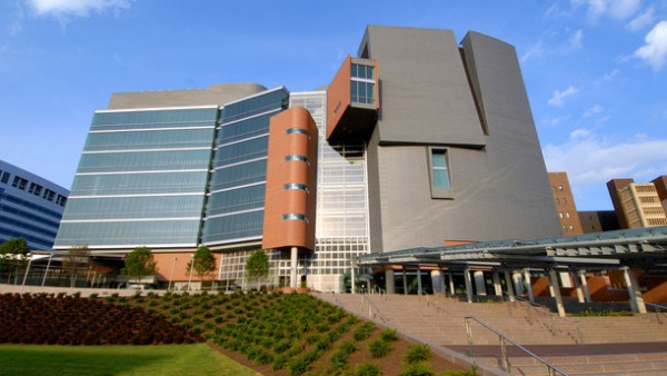 The University of Cincinnati's Center for Academic and Research Excellence building earned LEED Gold certification in 2008. Image via Green Education Services.