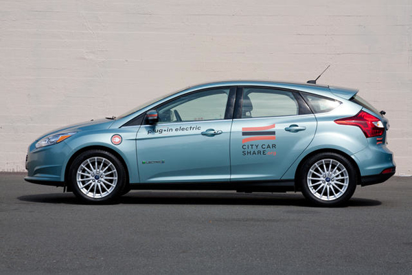 City CarShare Ford Focus Electric