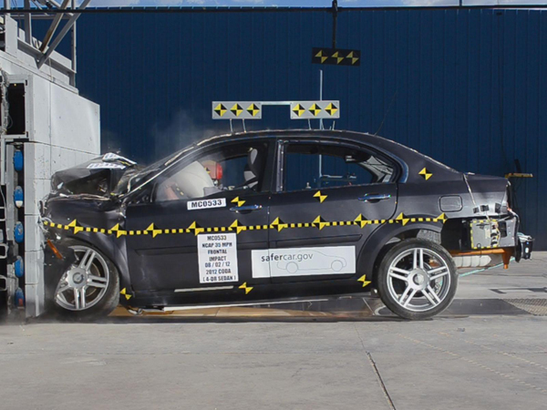 Coda Sedan crash test