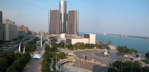 Hart Plaza, as it looks today. Image via DetroitYES.
