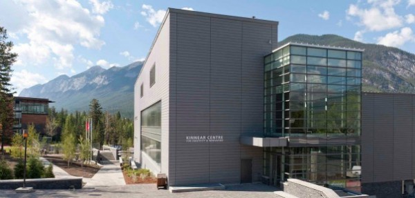 The LEED Gold-certified Kinnear Centre for Creativity & Innovation at The Banff Centre. Image by Laura Vanags via The Banff Centre.