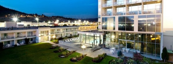The new LEED Silver Best Western hotel in Kelowna, B.C., has charging stations for electric vehicles and uses geothermal energy to heat its rooms. Image via Best Western Kelowna Hotel & Suites.