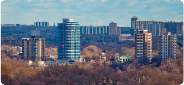 The MintoSkyy condo tower in Toronto recently received a LEED Gold rating. Image via The Minto Group.