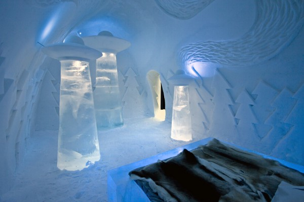 "Image of ""Beam Me Up"" custom suite via IceHotel."