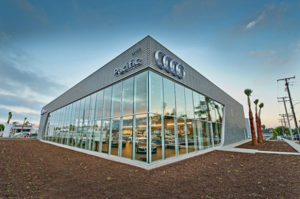 Image of new LEED Gold-certified Torrance, Calif., showroom via Audi Pacific.