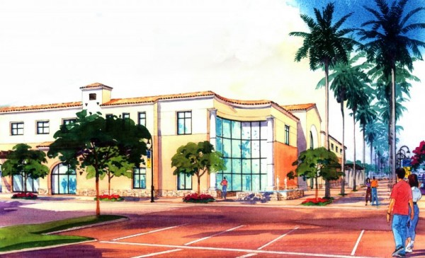 Artist's drawing of the new CBU Recreation Center. Image via California Baptist University.