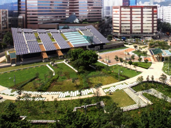 Image of Zero Carbon Building campus via Ronald Lu & Partners.